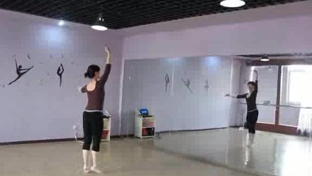 形体舞蹈《雪绒花》背面示范 高清