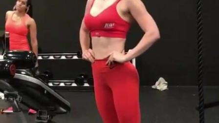女神Anllela Sagra最新训练日常 红色紧身衣
