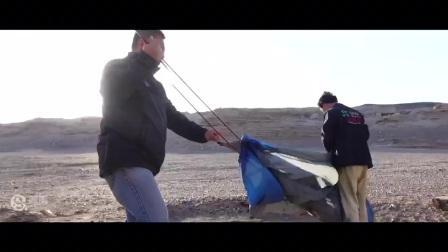 2017环塔勘路进行时——大风里面搭帐篷