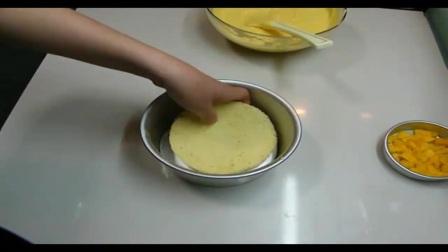 芒果慕斯之戚风蛋糕分片过程