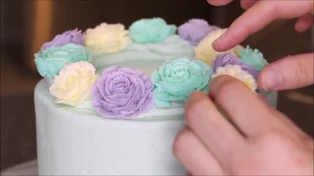风靡全球的韩式裱花蛋糕视频生日蛋糕制作