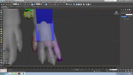3DMAX星际怪物CS骨骼布置及蒙皮
