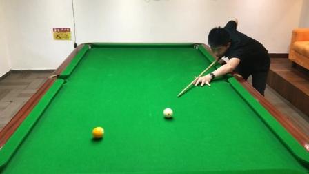 同样的点位和力量白球的效果却不一样,台球中的内功你学会了吗?