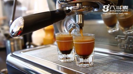 八斗麦意式香浓咖啡萃取油脂高清效果 意式浓缩咖啡制作