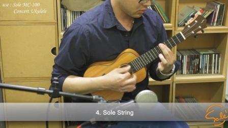 sole尤克里里琴弦碳素日产