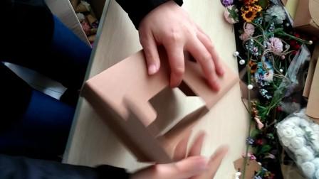绿野包装 花艺手作 简易信封式西点包装盒折叠方法