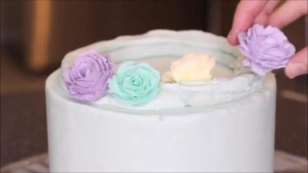 芭比奶油蛋糕、韩式裱花、裱花蛋糕现烤面包