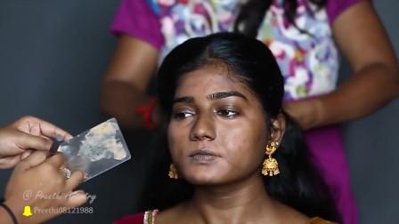 妆前妆后的印度新娘妆,原来女神都是被化出来的!