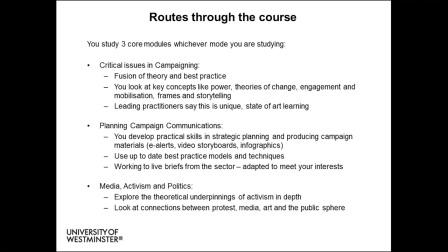 威敏课程-媒体、宣传和社会变革硕士 Media, Campaigning and Social Change MA