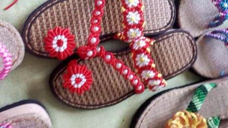 中国结手工编织拖鞋凉鞋可可手工成品鞋展示微信:hh116685