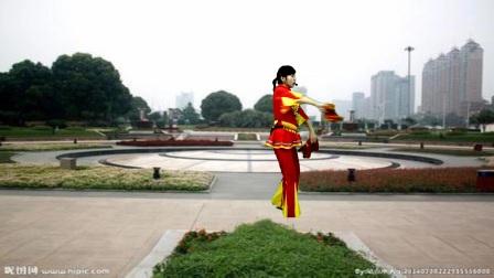 高安欣悦广场舞《福门开好运来》背面演示和教学