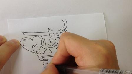 手绘POP海报字体:可爱宝贝