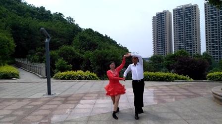 现代休闲广场交谊舞&三步踩_金银铜(别让我等候)表演者女:湖南/若梦云