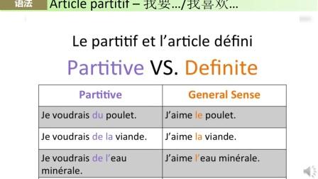 法语课第六届 阳性/阴性 leçon 6 - genre et nombre