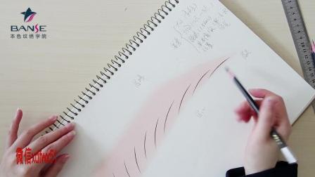 本色纹绣学院彩色眉型画法-上海纹绣培训机构视频教程