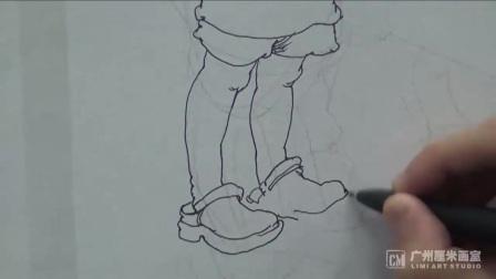 女人物头像素描视频
