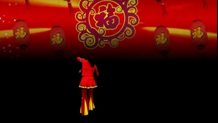 高安欣悦广场舞《福门开好运来》编舞:无边,瓦瓦。3.