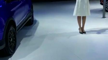 上海国际车展云度汽车展区主持人短视频