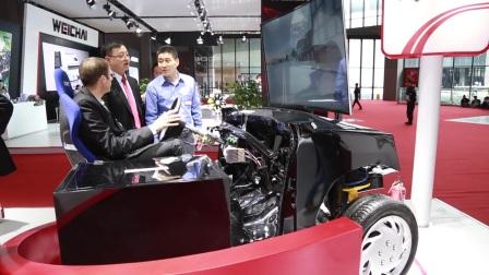 耐世特参加2017上海国际车展-展示线控转向技术