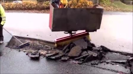 看德国修补坏掉的路面,真的是精细
