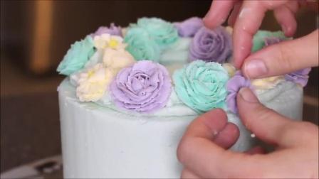 风靡全球的韩式裱花蛋糕视频用面包机做蛋糕