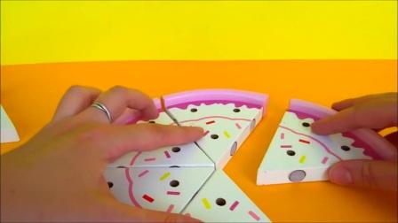 为孩子们的玩具草莓奶油蛋糕做的生日蛋糕,蛋糕。