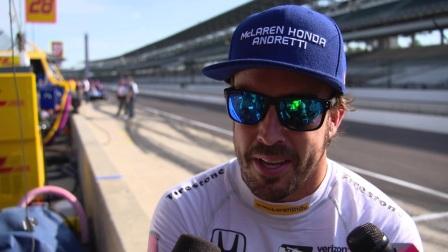 阿隆索印地500大赛练习赛后专访