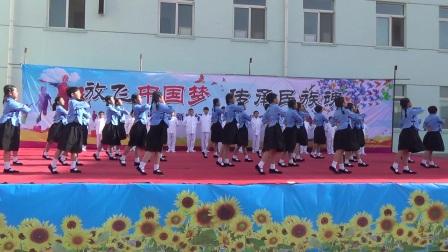 通辽市新世纪私立学校五年一班舞蹈跪羊图