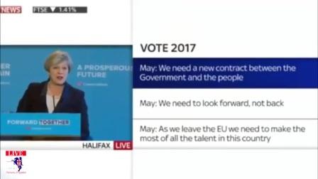 特蕾莎梅关于2017保守党竞选纲领的演讲