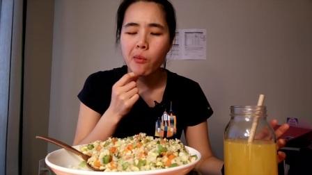 玉米炒饭|我是如何开始做饭的 吃播#115