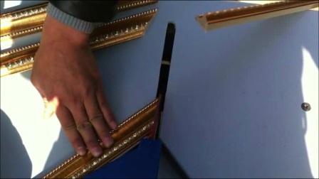 切角机2 萨嘎县相框装裱切割机 切角机价格 钉框机使用方法相框机