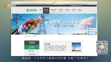 牛商网网络营销客户案例:湖南湘江电缆