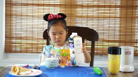 自制芒果冰激凌-6岁小朋友教你做(英文)
