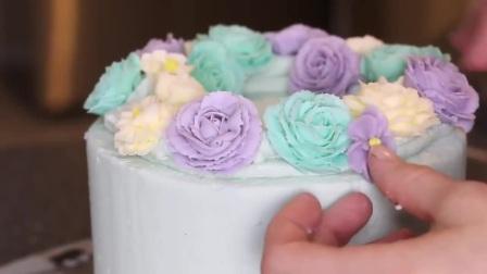 生日蛋糕裱花制作,生日蛋糕裱花寿桃