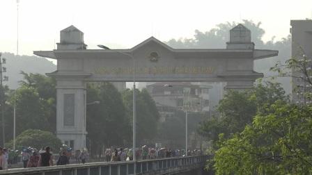 中国云南河口口岸开放越南边民涌入中国全程实拍