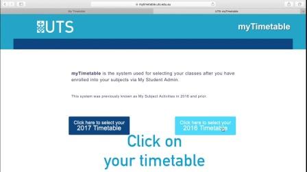 悉尼科技大学 - 如何把学校课表导入到手机里?