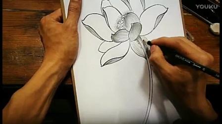 中国文身协会胡德良主讲第二课莲花的技法._高清