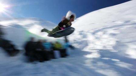创意周末丨雪地里的狂欢:高空滑索滑雪