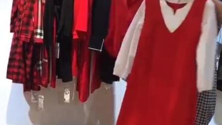 品牌女装折扣批发 米莱17年春装连衣裙 专柜正品