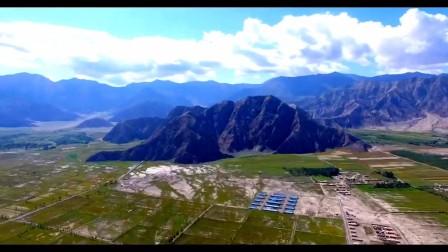 无人机航拍阿合奇县美景