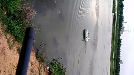 遥控充气风动下网船