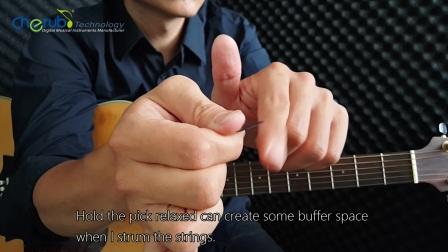 Cherub小天使免费吉他课四《四分音符 八分音符吉他扫弦》