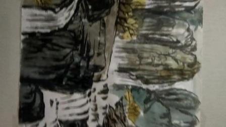 吴晓娟山水国画上色效果