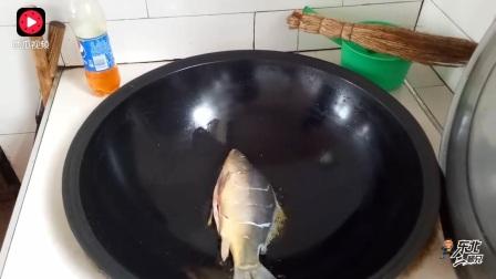 东北铁锅炖大鱼,味道太鲜了