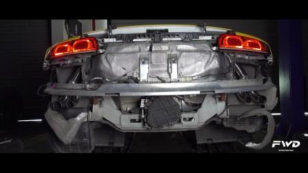 奥迪Audi R8 V10改装FWD Exhaust可变阀门排气喷火视频