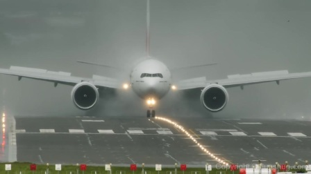 Emirates Boeing 777 - making and busting clouds
