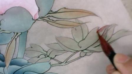 李晓明工笔花鸟教学视频DVD技法讲座DVDDVDDVD工笔牡丹玉芙蓉004