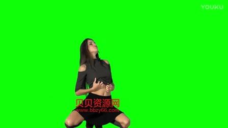 性感美女跳舞绿屏抠像视频素材