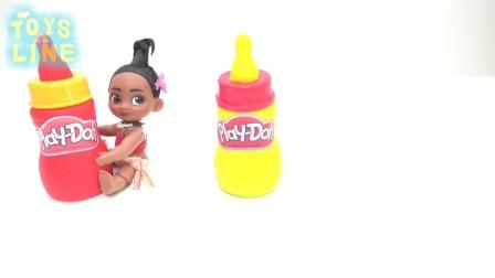 迪士尼公主米老鼠冰棍冰淇淋惊喜鸡蛋学习颜色指家族