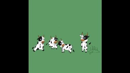 iPad手绘-卡通牛头像